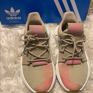 Khaki and Pink Adidas Prophere new with box